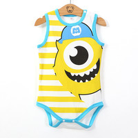 2015 Summer Baby Mickey Minnie Cotton Costume Baby Girl Children Jumpsuit Baby Boy Climb Clothes Rompers
