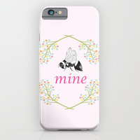 Bee Mine Phone Case, iphone 6, iphone 4, 5 Samsung S3, S4 S5, love, in love, valentine gift for her cases, protective, gadgets, tech
