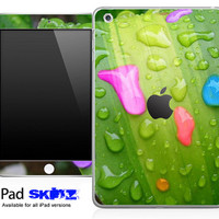 Colorful Leaf Raindrops Skin for the iPad Mini, iPad 1st, 2nd, 3rd or 4th Generation