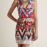 Nell Zig Zag Boarder Print Dress