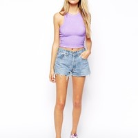 ASOS Crop Top in Oil Wash