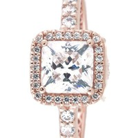 Pandora Timeless Elegance Ring, Pandora Rose, Clear CZ, 7 US, 180947CZ-54
