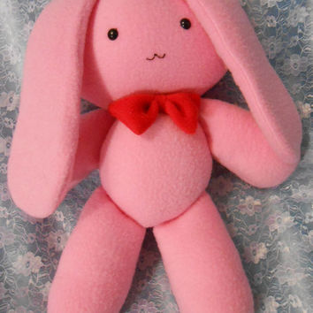 Ouran High School Host Club inspired Usa-chan mascot pink bunny rabbit (35 cm high) for Mitsukuni Honey Haninozuka cosplay (1/1 scale)