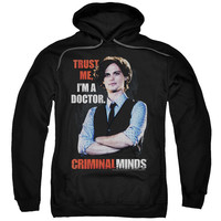 CRIMINAL MINDS/TRUST ME-ADULT PULL-OVER HOODIE-BLACK