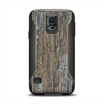 The Straight Aged Wood Planks Samsung Galaxy S5 Otterbox Commuter Case Skin Set