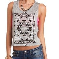 STUDDED GEOMETRIC MUSCLE TANK