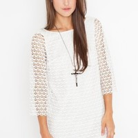 Scalloped Lace Dress