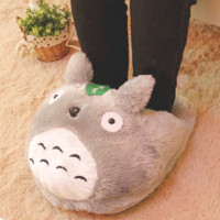 Cartoon chinchilla home computer feet slippers