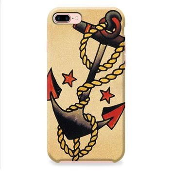 Anchor Tattoo Style Sailor Pirate iPhone 8 | iPhone 8 Plus Case