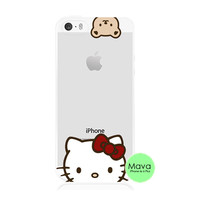 Hello Kitty iPhone 5s 5 Transparent Clear Soft Case