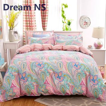 Dream NS Plaid Bedding Set 4pcs polyester Cotton Duvet Cover Bed Sheet  Pillowcases Bedroom Textile Bed Linen Queen Kids Bed Set