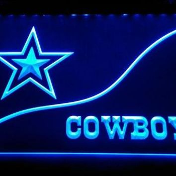 LS899-b- Dallas Cowboys 3D LED Neon Light Sign Customize on Demand 8 colors to choose