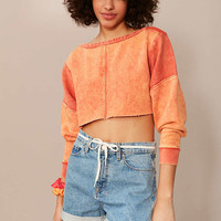 BDG Teen Spirit Cropped Long Sleeve Tee - Urban Outfitters
