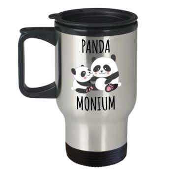 Panda Mug Panda Gift Panda Bear Stainless Steel Insulated Travel Coffee Cup I Love Pandas Panda Lover Mug Cute Panda Decor for Panda Collector
