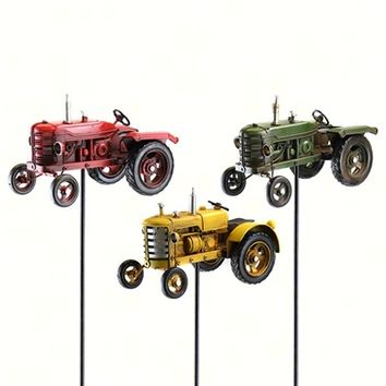 Retro Tractor Garden Stake Assortment (9 pcs)