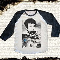 Size M -- BOB DYLAN Shirts Country Rock Shirts Baseball Tee Jersey Tee Raglan Long Sleeve Unisex Shirts Women Shirts