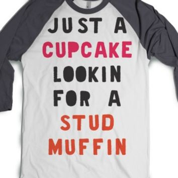 Just A Cupcake Looking For A Stud Muffin (Baseball)-T-Shirt