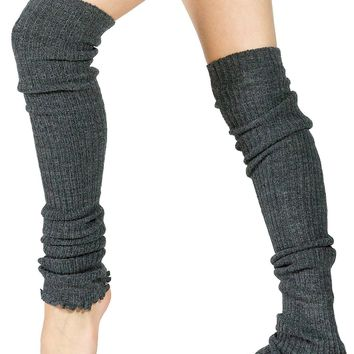 Leg Warmers / Thigh High Leg Warmers 28 Inch / Dark Gray