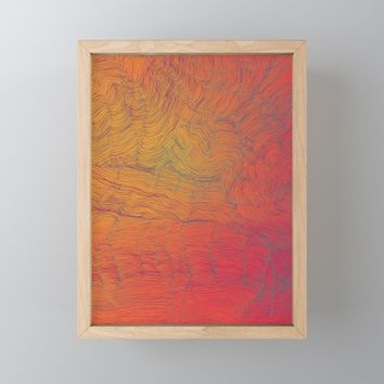 Auric Waves Framed Mini Art Print by duckyb