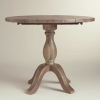 Weathered Gray Jozy Drop Leaf Dining Table