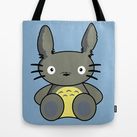 Hello Totoro Tote Bag - Blue