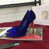 DCCK Versace Women Fashion Casual High Heels sandals Slipper Shoes Blue
