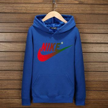 DCCKN6V NIKE Fashion Print Cotton Long Sleeve Sweater Pullover Hoodie Sweatshirt Blue G-YSSA-Z