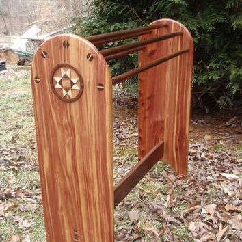 Quilt Rack, Quilt Stand, Afghan, Blanket, Solid Wood, Custom Hand Made, CUSTOM ORDERS ACCEPTED