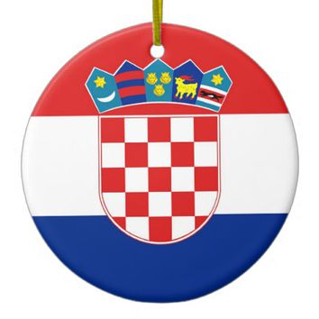 Ornament with flag of Croatia
