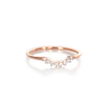 14kt Rose Gold Diamond Cascade Ring