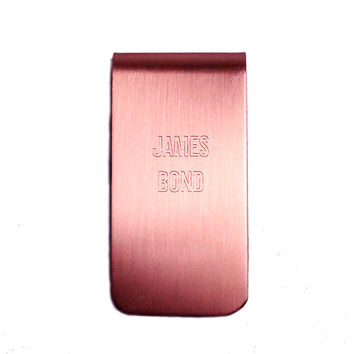 Personalized Solid Copper Money Clip