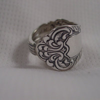 A Spoon Rings Plus Beautiful Size 10 Spoon Ring Antique Pretty Spoon Rings t229