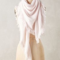 White and Warren Cashmere Fringe Triangle Scarf