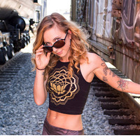 Sacred Geometry - Lotus Clothing - Women's Crop Top