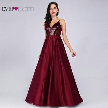 Classic V Neck A Line Prom Dress With Full Skirt