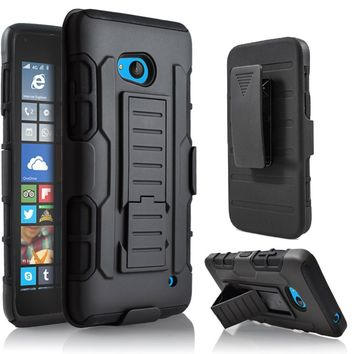 Case For Nokia For MicroSoft Lumia 640 Heavy Duty Shockproof Armor Clip Cover Hard Case Holster for MicroSoft Lumia 640