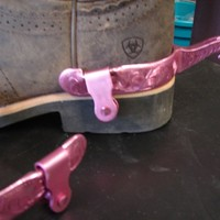 Fine Kelly Spurs PINK Steel Show Western Engraved Adult Ladies Superior Tough1