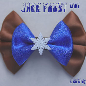 jack frost mini hair bow