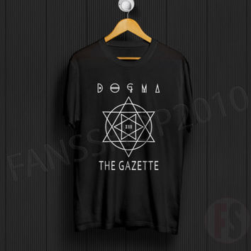 NEW THE GAZETTE DOGMA Ruki Uruha Aoi Reita Kai Black T-Shirt Size S to XL