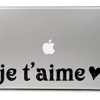 "VINYL- Je t'aime I love you in French (11.6"" MacBook Air)"