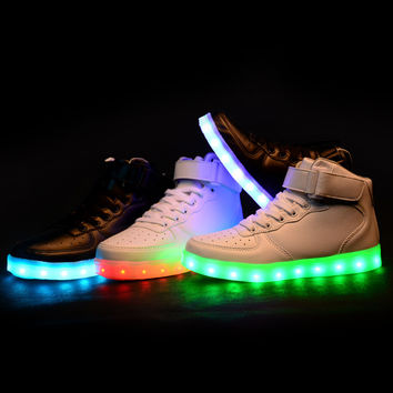 New style led light up shoes flashing sneakers