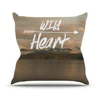 "Ann Barnes ""Wild Heart"" Landscape Outdoor Throw Pillow"