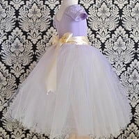 Flower Girl Tutu cut to your choice of length Sewn no by TutusChic