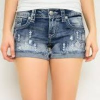 Diamond Cut Off Shorts/ Grace In LA