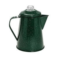 One Kings Lane - Take It Outside - Coffee Pot w/ Percolator, Speckled Green