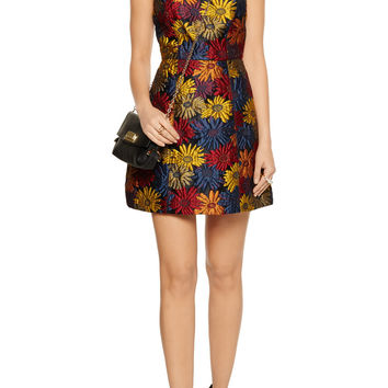 Alice + Olivia Demetria floral-brocade mini dress – 50% at THE OUTNET.COM