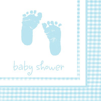 Plaid Baby Boy 2 Ply Lunch Napkins/Case of 192