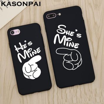 KASONPAI Funny Cute Couples Phone Cases For iphone 6 7 7 Plus Case For iphone 6S Fashion Abstract Art Cartoon ultra thin Shell
