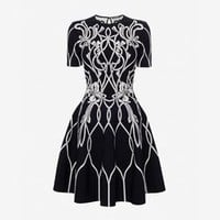 Jacquard Mini Dress | Alexander McQueen