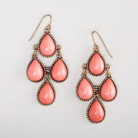 Coral Chandelier Style Earrings
